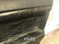 96 -1999 Bmw M3 E36 Sedan Front Right Interior Door Panel Leather Black Wood Oem