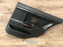 96 1999 Bmw M3 E36 Sedan Rear Right Interior Door Panel Leather Black Wood Oem
