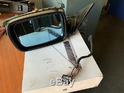 BMW E46 Electric power Folding Wing Mirror Passenger Side Sapphire Black. 11