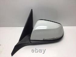 Bmw 1 Series F20 5 Door Passenger N/s Electric Power Folding Mirror White A300