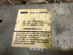 Bmw Oem E24 E28 E30 Front Cassette Player Radio Tape Indash Stereo Model Cm5905