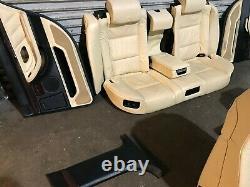 Bmw Oem E38 750 Front And Rear Seat Seats Door Panel Panels Wood Trim Set 95-01