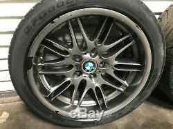 Bmw Oem E39 M5 Front And Rear Set Of Rims Wheel Wheels & Tire Staggered 18 Inch