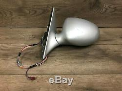 Bmw Oem E39 M5 Front Driver Side Exterior Door Mirror Silver Auto Fold 2000-2003