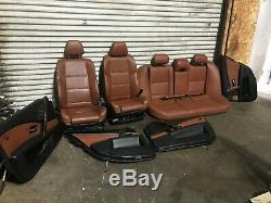 Bmw Oem E60 525 528 530 535 545 550 M5 Front & Rear Leather Seats Seat Set 04-10