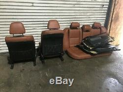 Bmw Oem E60 525 528 530 535 545 550 M5 Front & Rear Leather Seats Seat Set 04-10