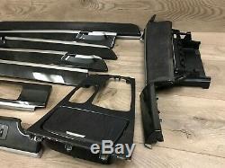 Bmw Oem F01 F02 740 750 760 Front Rear Dash Wood Trim Trims Molding Set 09-15 2