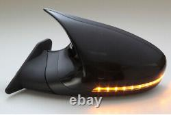 GTS mirror LED Black Mirror surface electric adjust Auto Fold LHD For BMW 5