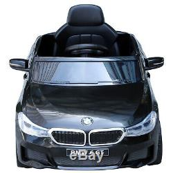 Licensed BMW 6GT 6V Kids Ride On Car Electric Battery Powered Music Play with