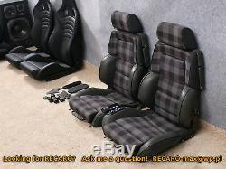 RECARO Classic c81 the Pair -Power Setas fits w201 w124 BMW Audi electric