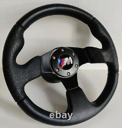 Steering Wheel Fits BMW Sport M Power Perforated Leather Black E38 E39 E46 Z3 M3