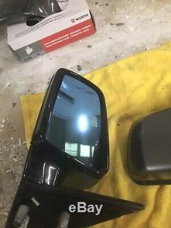 Bmw E60 E61 Puissance Électrique Pliant Led Wing Miroirs Modèles LCI Gloss Black