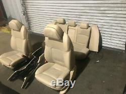 Bmw F10 F11 528 535 550 M5 Oem Avant Arrière Sièges Set Complet Dynamic Seat Tan