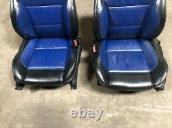 Bmw Oem E39 M5 Sièges Avant Et Arrière 2 Tone Blue Black Seat Set Heated M/// Sport