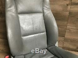 Bmw Oem E60 528 530 525 535 545 550 M5 Avant Côté Conducteur Siège En Cuir Gris 04-10