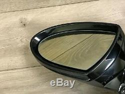 Bmw Oem E63 E64 M6 Miroir De Porte Avant Côté Conducteur Automatique Fold Noir 2006-2010
