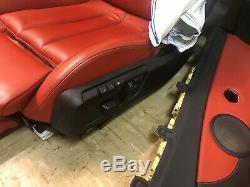 Bmw Oem F33 F83 M4 Sièges En Cuir Arrière Avant Convertible Siège Étant Panneau De Porte Rouge