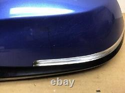 Bmw Série 1 F20 5 Passager Porte Nearside Electric Power Folding Mirror Blue