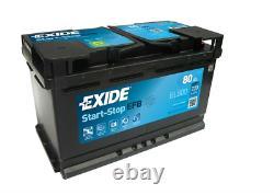 El800 Exide Efb Start-stop 12v / 80ah 720a (en) Erstausrüstertechnologie