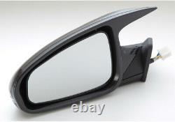 Gts Miroir Led Black Mirror Surface Électrique Ajuster Auto Fold Lhd Pour Bmw 5