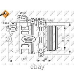 Nrf Klimakompressor Klimaanlage Bmw 2615453