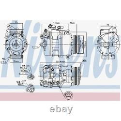 Original Nissens Klimakompressor Klimaanlage Bmw