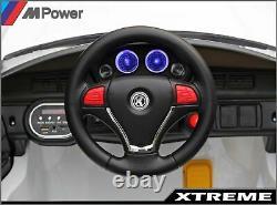 Roule Électrique White 12v Pour Enfants Sur Bmw M4 Style Batterie Powered Car 2.4g R/c