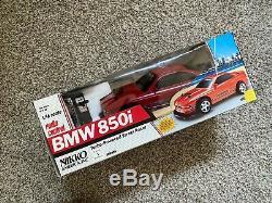 Téléguidés Vintage Nikko Amérique Red Bmw 850i Turbo-powered Rare Nouveau Complet