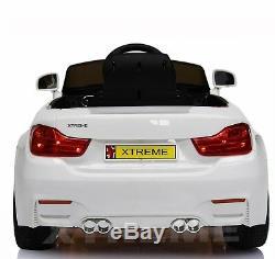 Xtreme 12v Blanc Tour Sur Bmw Série 4 M4 Voiture Style Alimenté Par Batterie Voiture Électrique